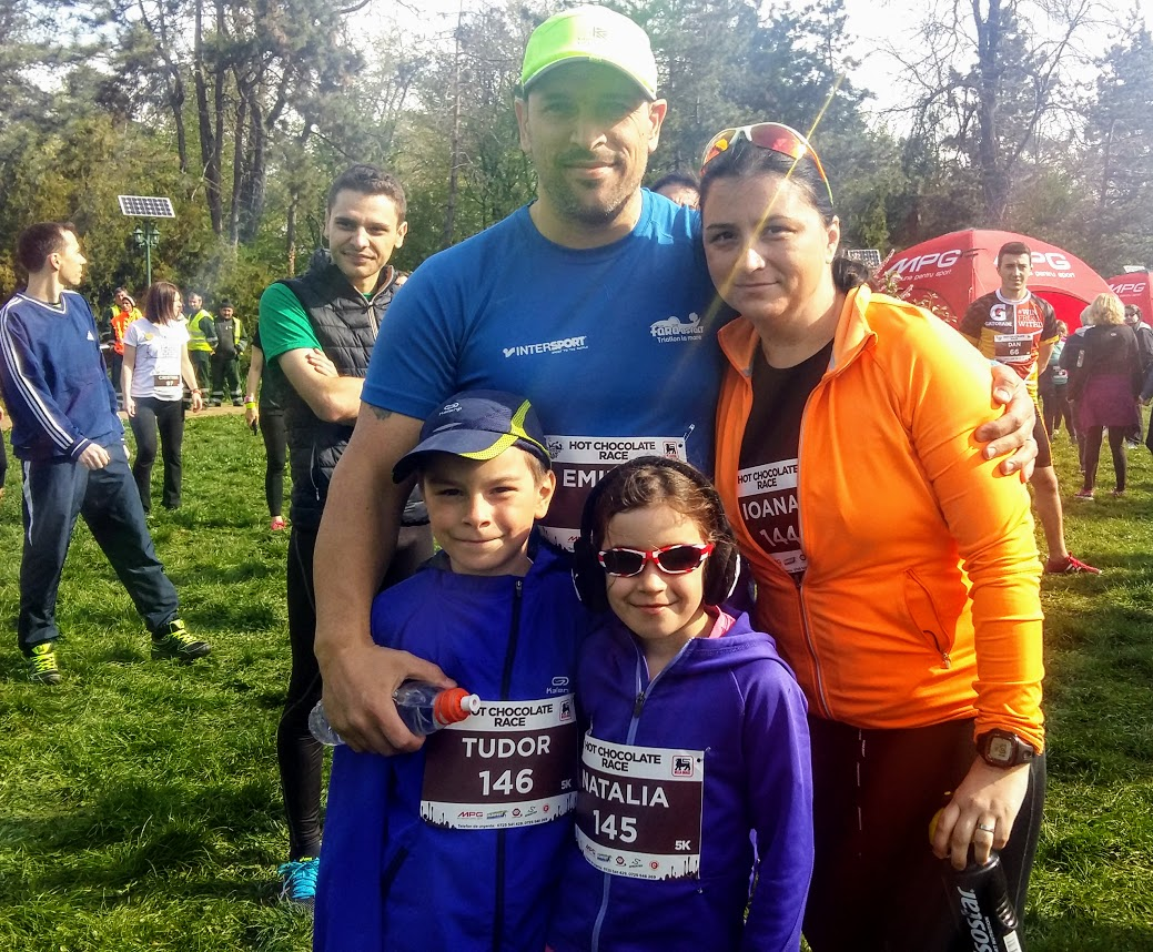 Familia Nedelcu la Hot Chocolate Race 2017