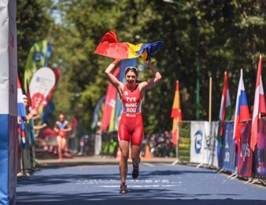 Antoanela Manac - linia de finish Campionatul European Cross Triathlon 2017