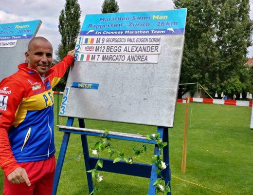 Paul Georgescu locul 1 maraton inot lacul Zurich