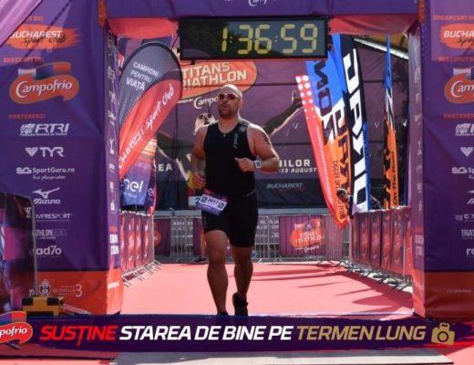 Titans Triathlon 2017 - Emilian Nedelcu finish