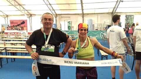 Mariana Nenu, locul 4 Ultrabalaton, alaturi de antrenorul Ben Ami