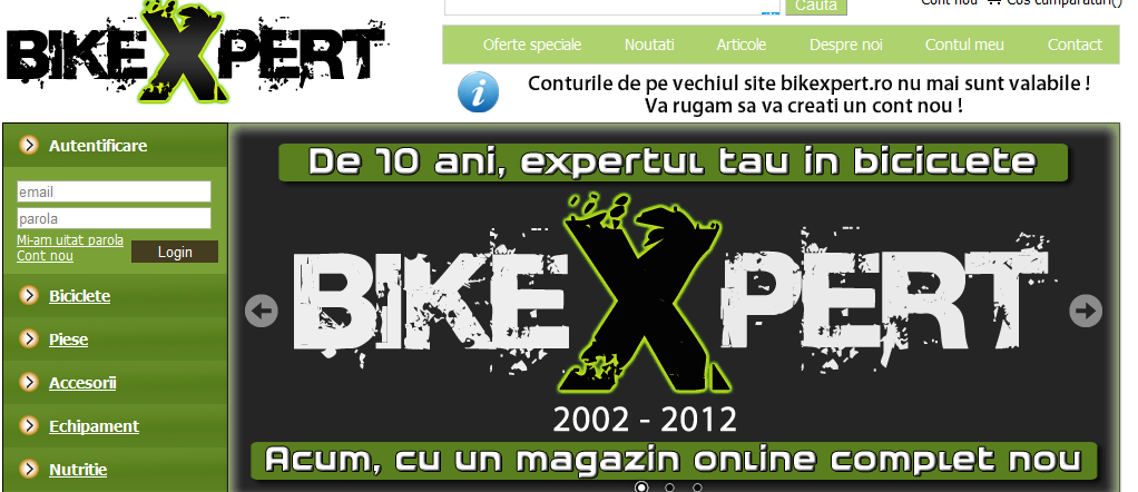 BikeXpert screenshot website