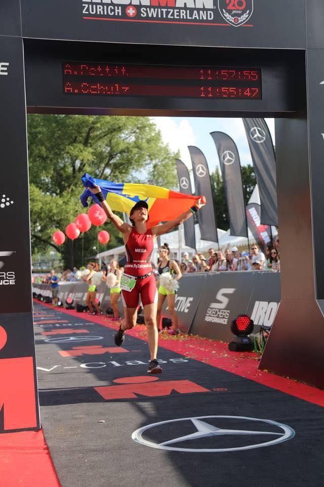 Ana Mega trece linia de finish la Ironman Zurich