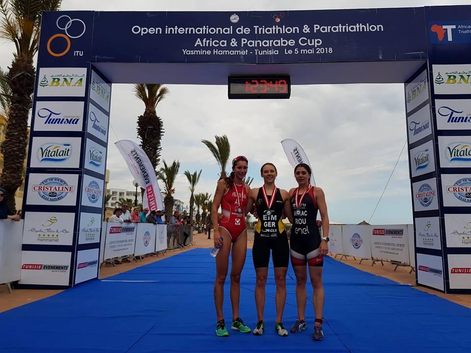 Antoanela Manac - podium cupa Africii la Hammamet