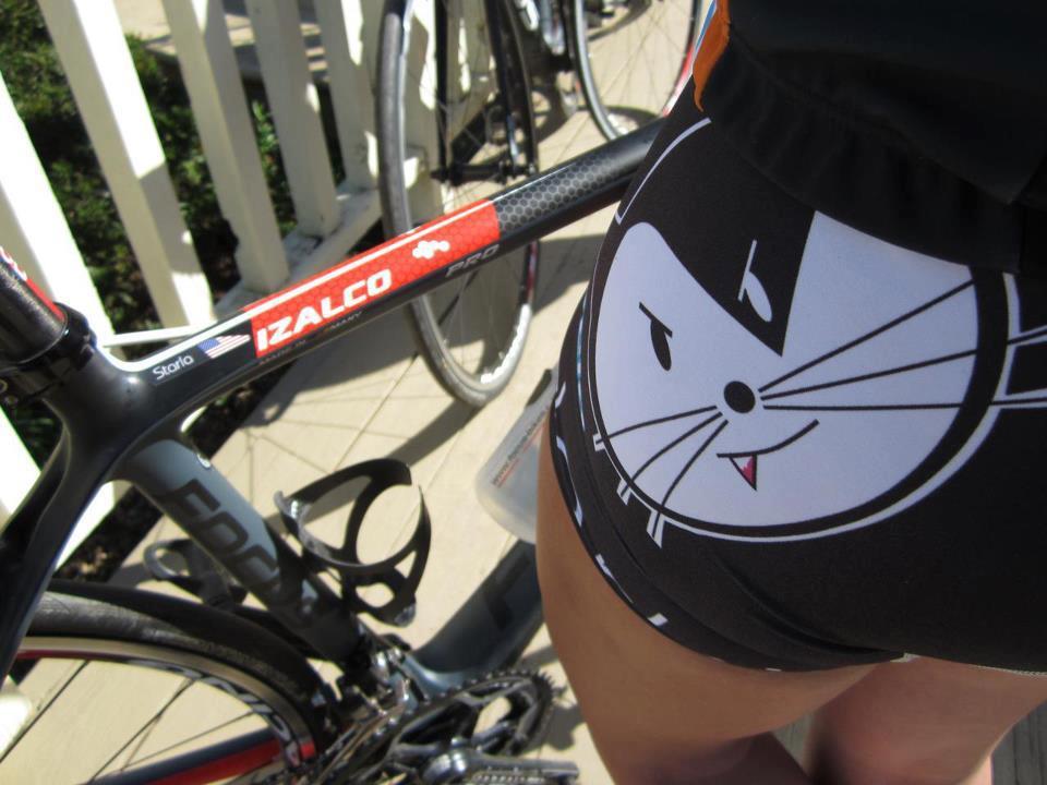 Biciclista sexy - imprimeu pisica