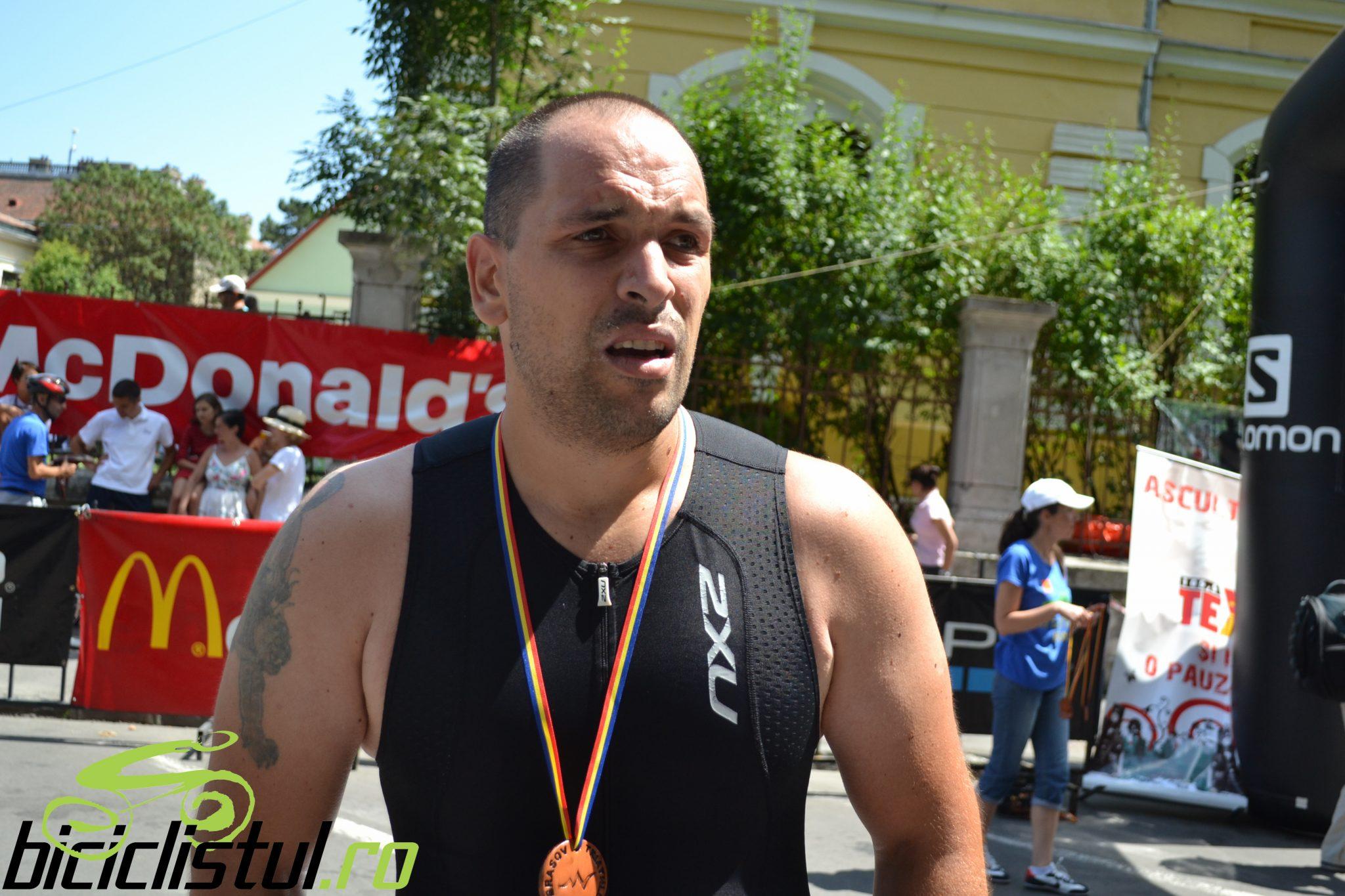 Brasov Triathlon - finish Emilian Nedelcu