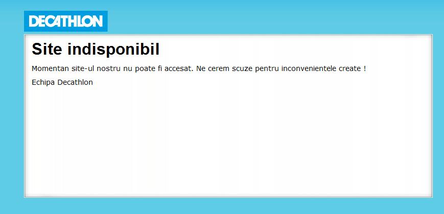 Decathlon Romania - eroare online