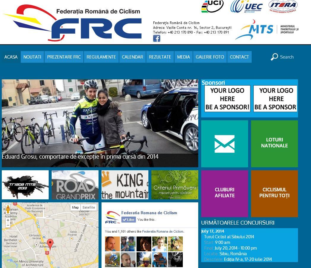 Federatia Romana de Ciclism website