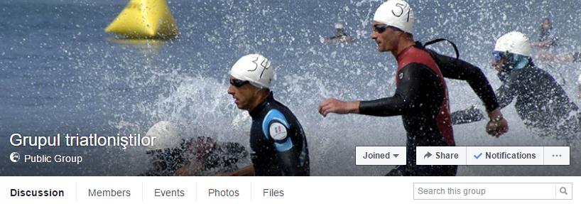 Grupul triatlonistilor - link catre pagina de Facebook - forum pentru triatlonisti