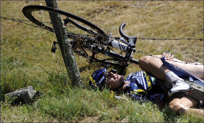 Turul Frantei 2011, accidentul lui Hoogerland