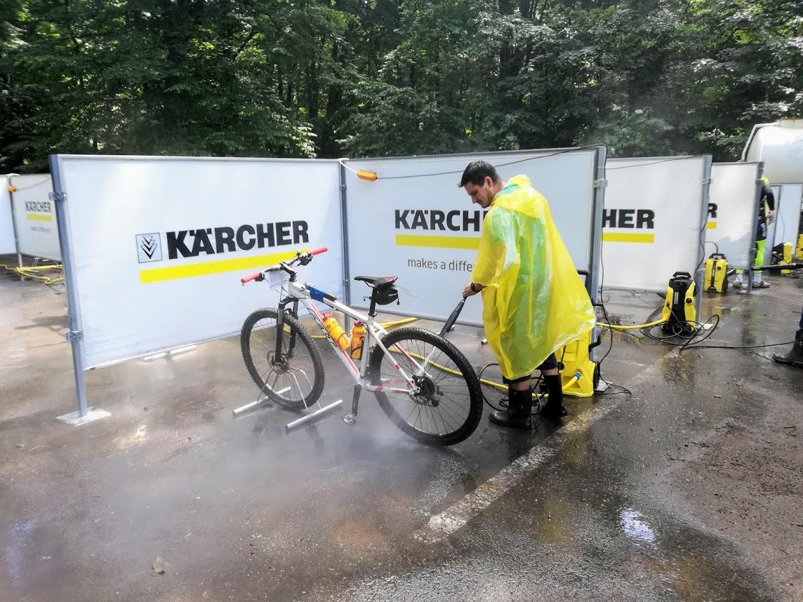 Prima Evadare 2018 - zona de spălare a bicicletelor