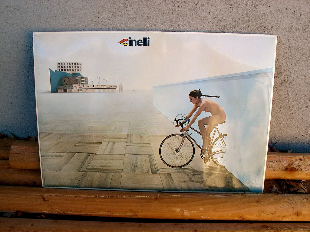 O biciclista pe zi - reclama Cinelli