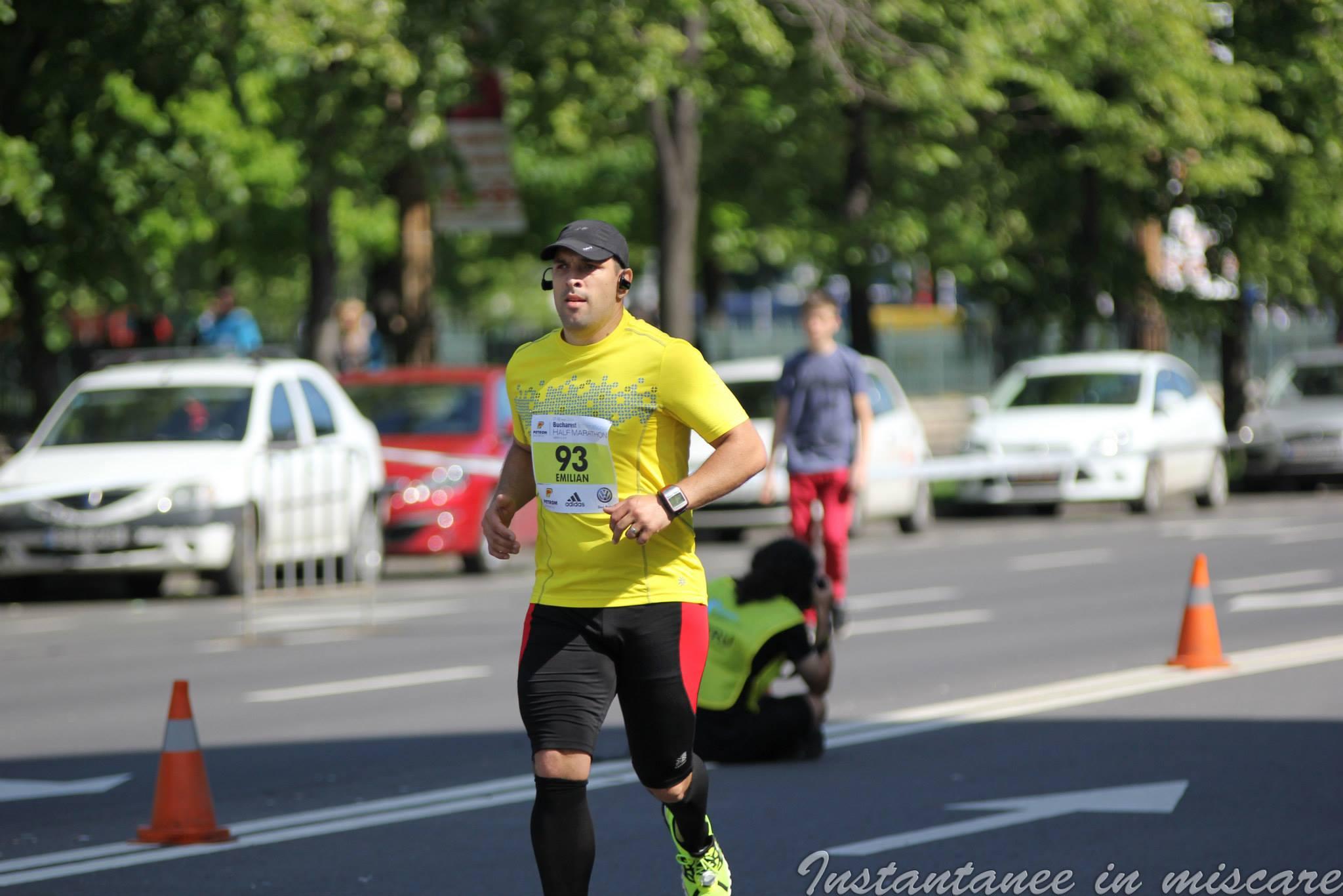 Emilian Nedelcu alergare semimaraton Bucuresti