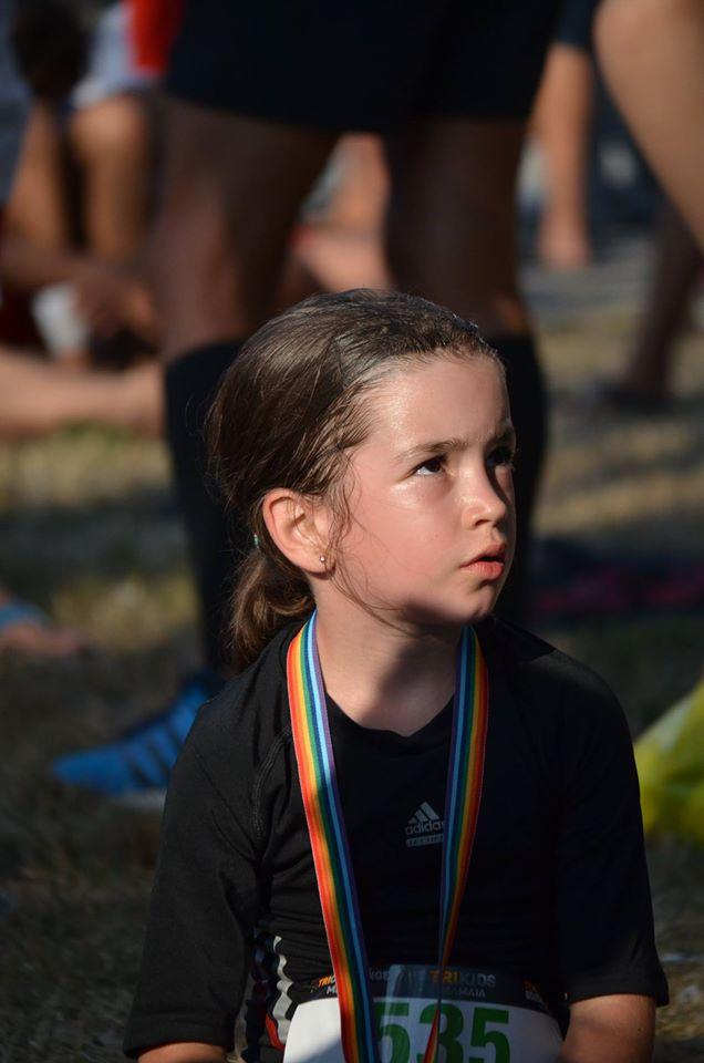 Foto: Triathlon Pixel. După finish, epuizată.
