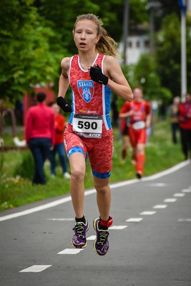 Alice Perjoiu - Campionatul Naţional de Duatlon 2017