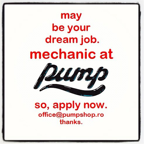 Pump Shop angajeaza mecanic biciclete