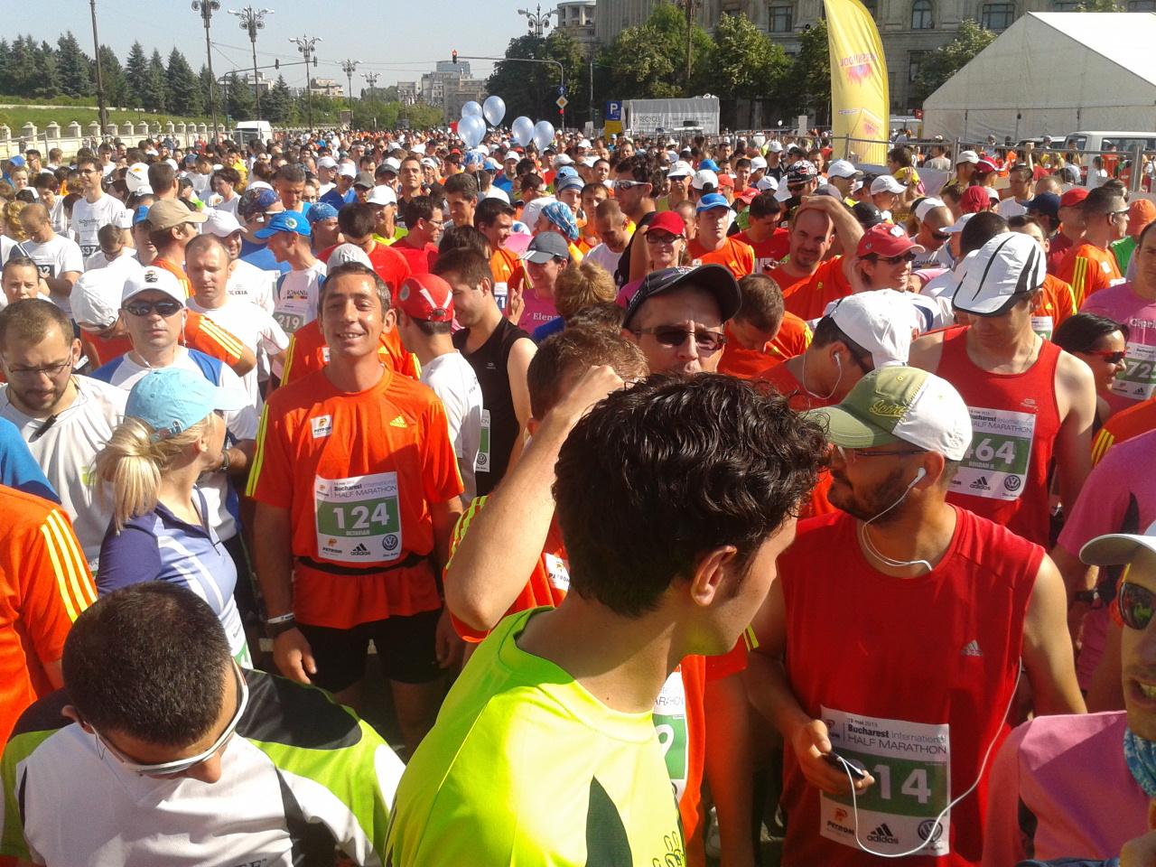 Semimaraton Bucuresti - inainte de start