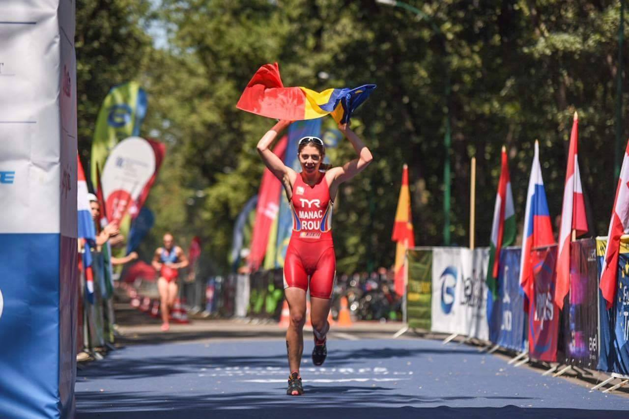 Antoanela Manac - linia de finish Campionatul European Cross Triathlon 2017