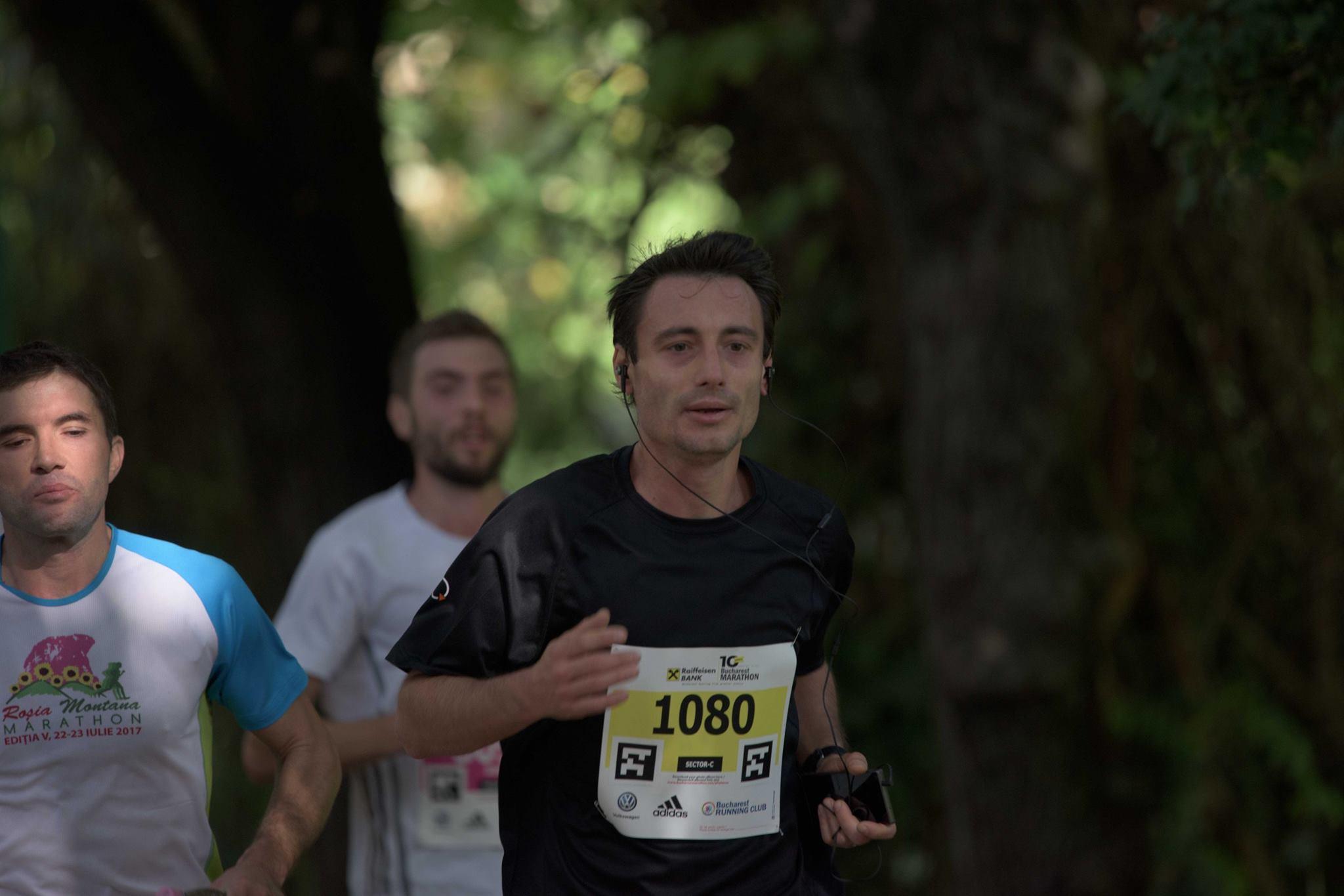 Victor Iliescu - alergare Maratonul București 2017