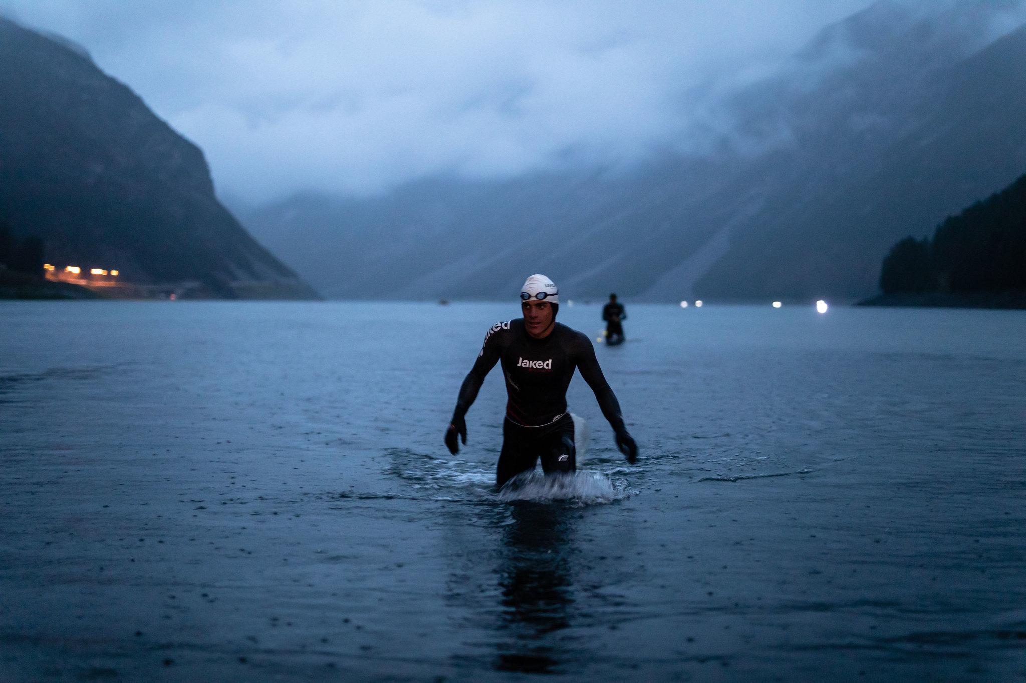 Icon Livigno Xtrem Triathlon - proba de inot finish