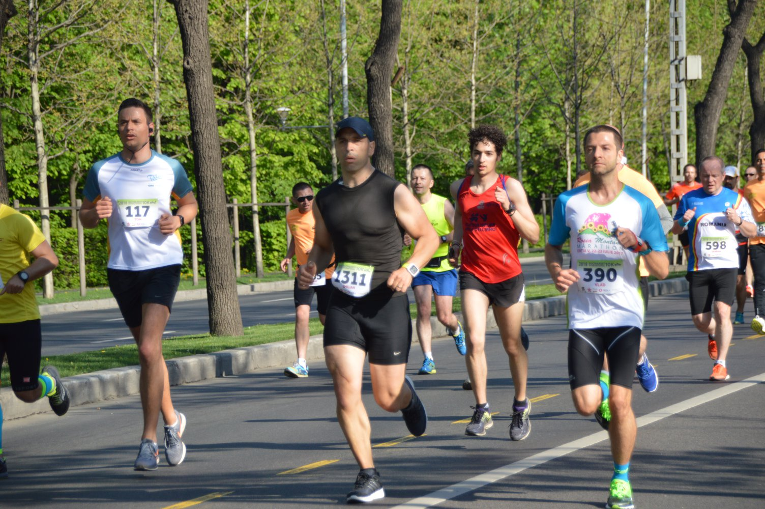 Bucharest International 10K - Emilian Nedelcu pe traseu