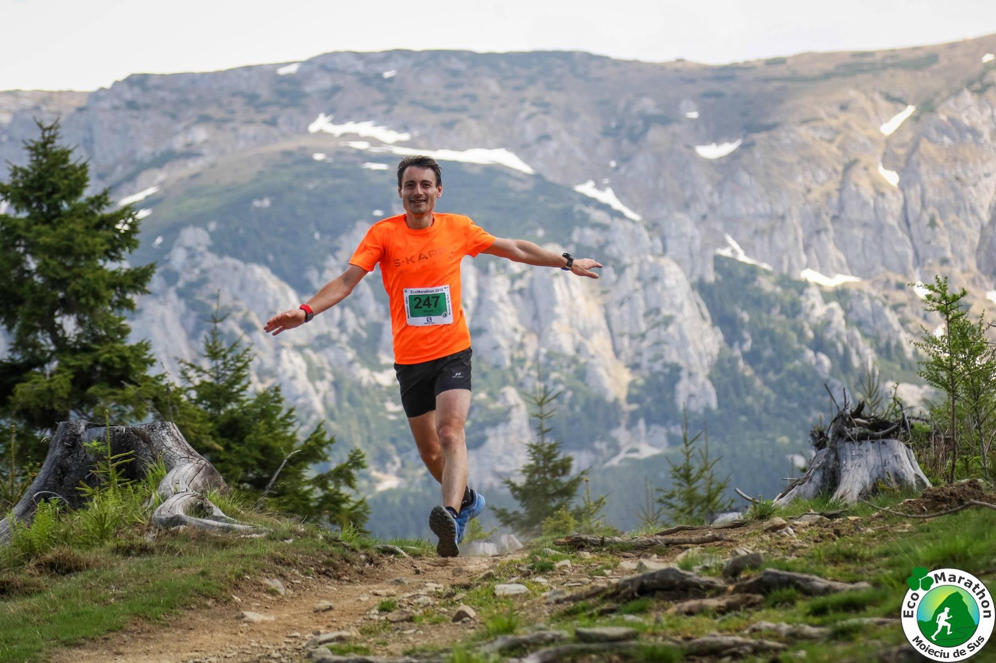 Victor Iliescu în alergare la Ecomaraton