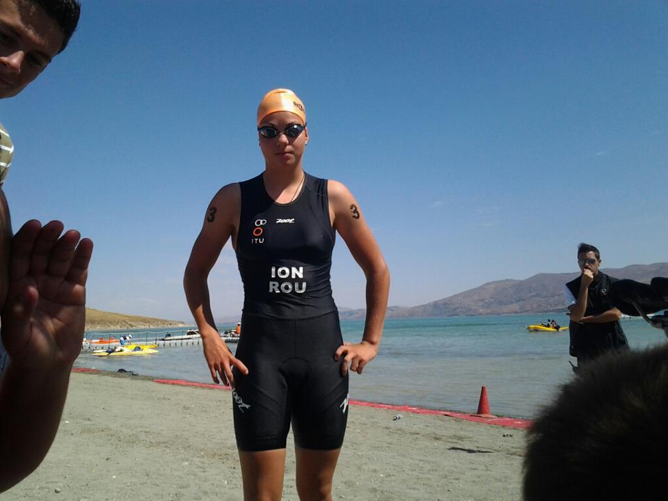 Stefania Ion, la Campionatul Balcanic de Triatlon, 2012