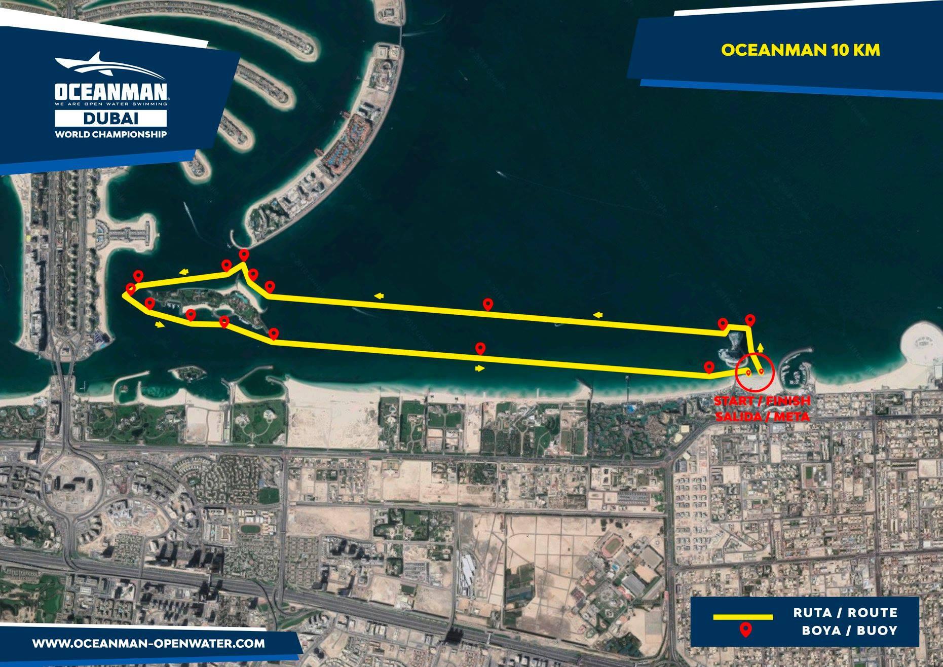 Traseu Oceanman Dubai 10 km - Paul Georgescu