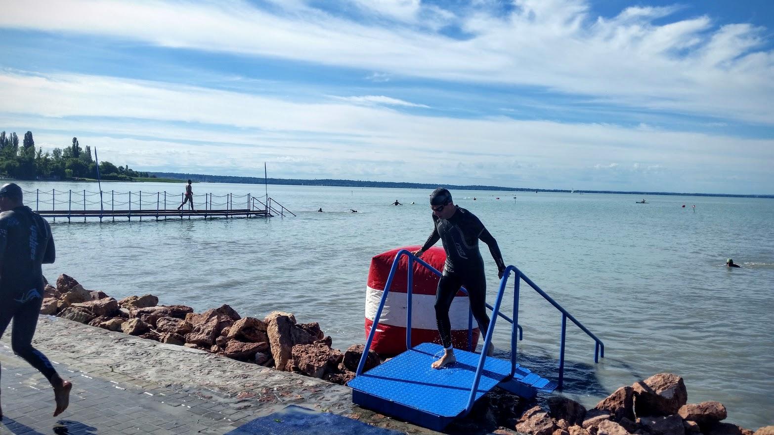 Aici eram la prima ieșire din apă.