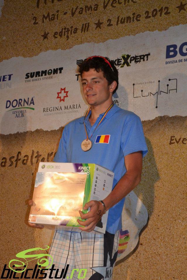 Alexandru Serba, locul 1 la triatlonul Fara Asfalt