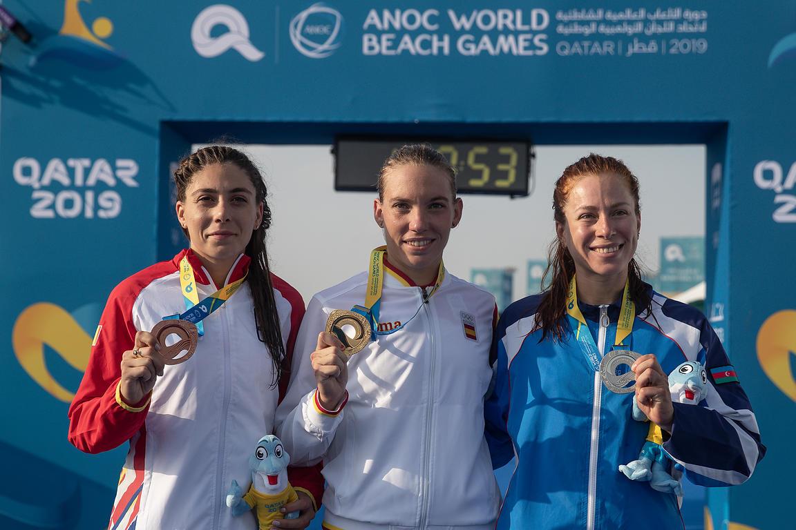 Podium Jocurile Mondiale de Plaja 2019 - Antoanela Manac locul 3