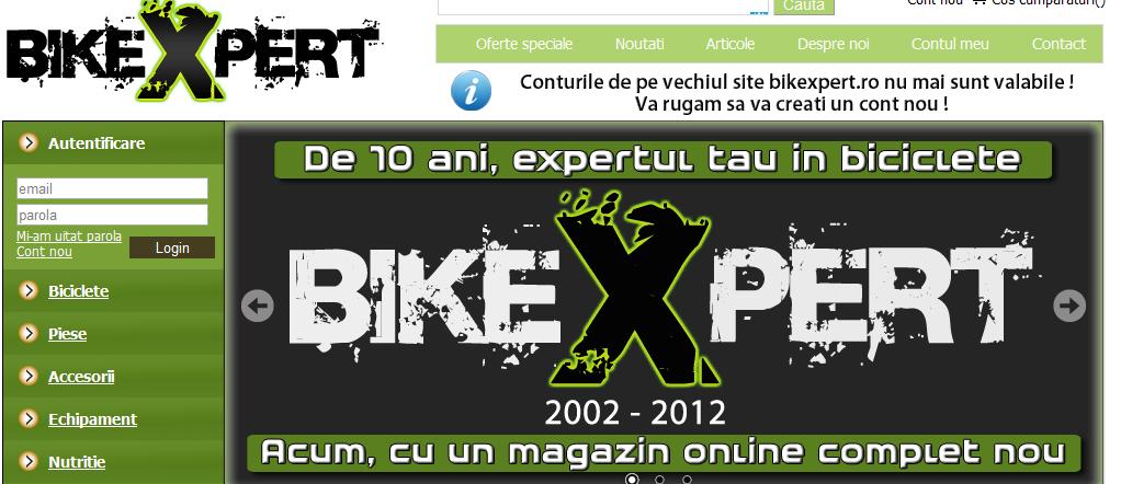 BikeXpert screenshot website
