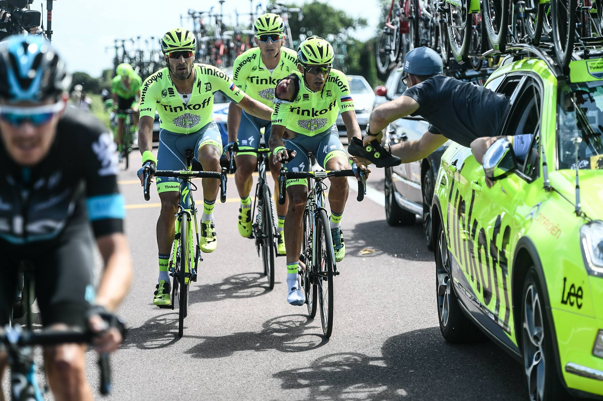Alberto Contador - Turul Frantei etapa 1 - ranit