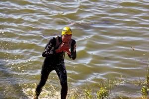 Alexandru Diaconu - iesire inot Ironman Oradea 2012