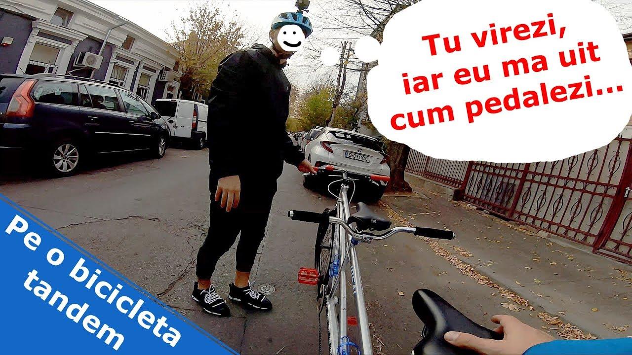 Bicicleta tandem Bucuresti