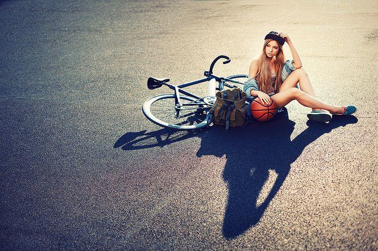 Biciclista beton