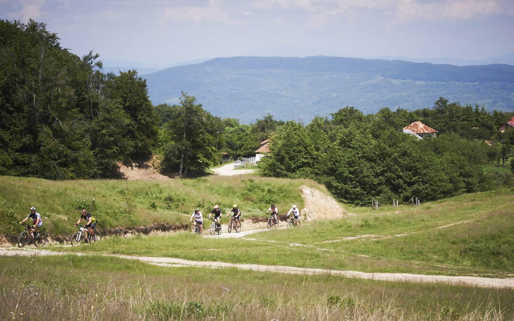 Maratonul Olteniei - peisaj urcare