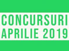 Concursuri sportive luna aprilie 2019