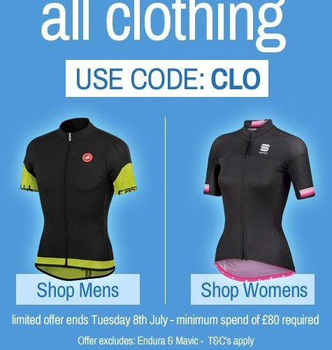 Chain Reaction Cycles clothing promotion