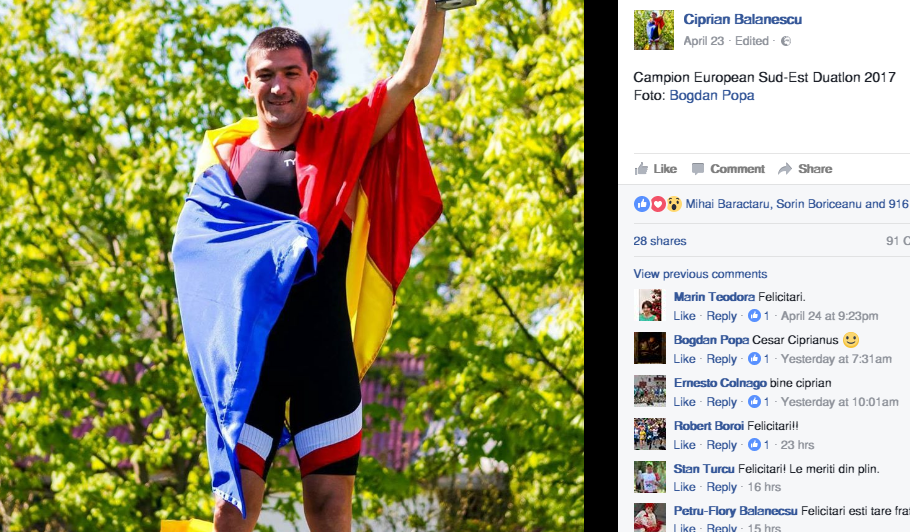 Ciprian Balanescu - campion european sud-est duatlon 2017