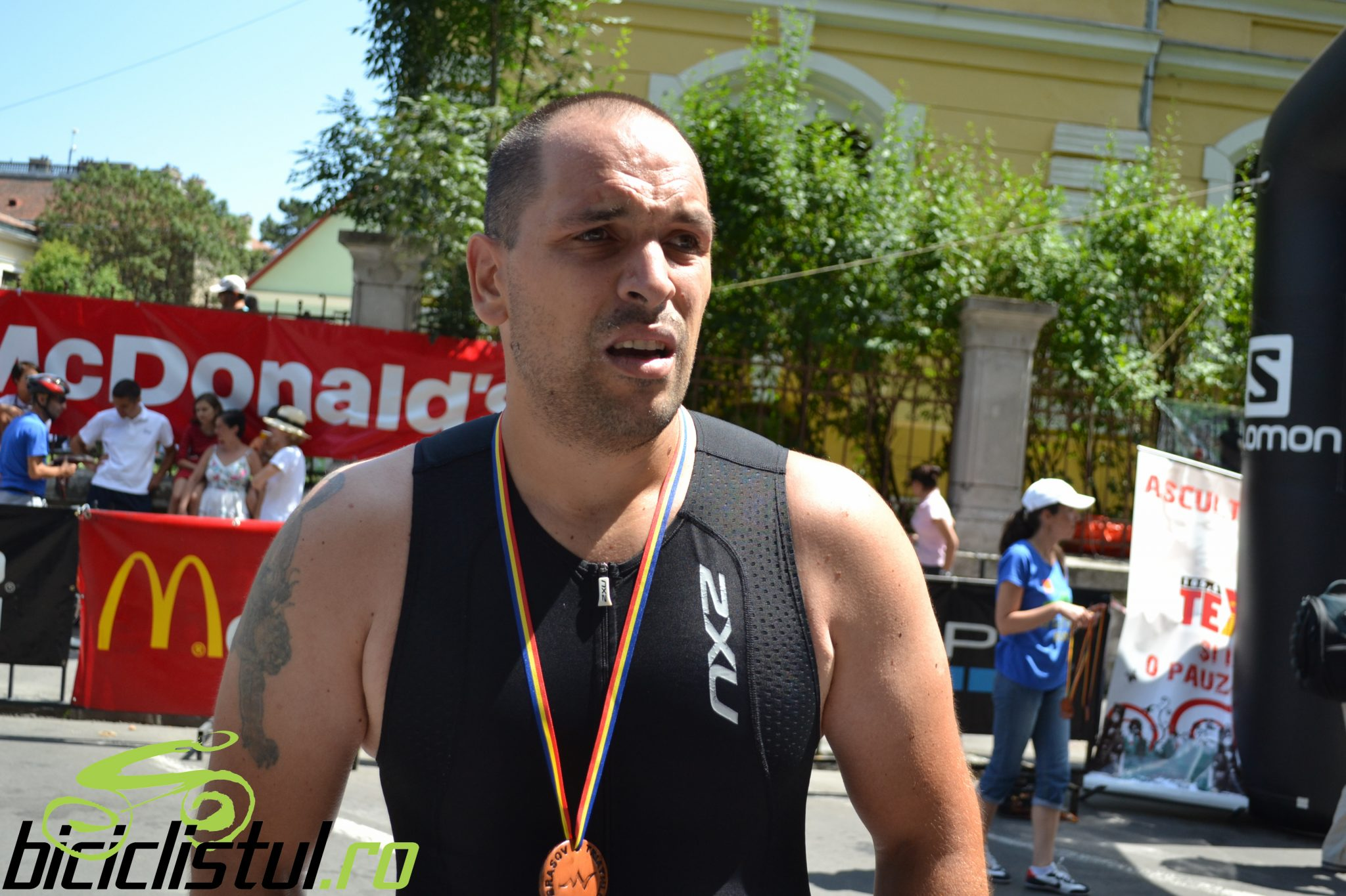 Brasov Triathlon - finish Emilian Nedelcu