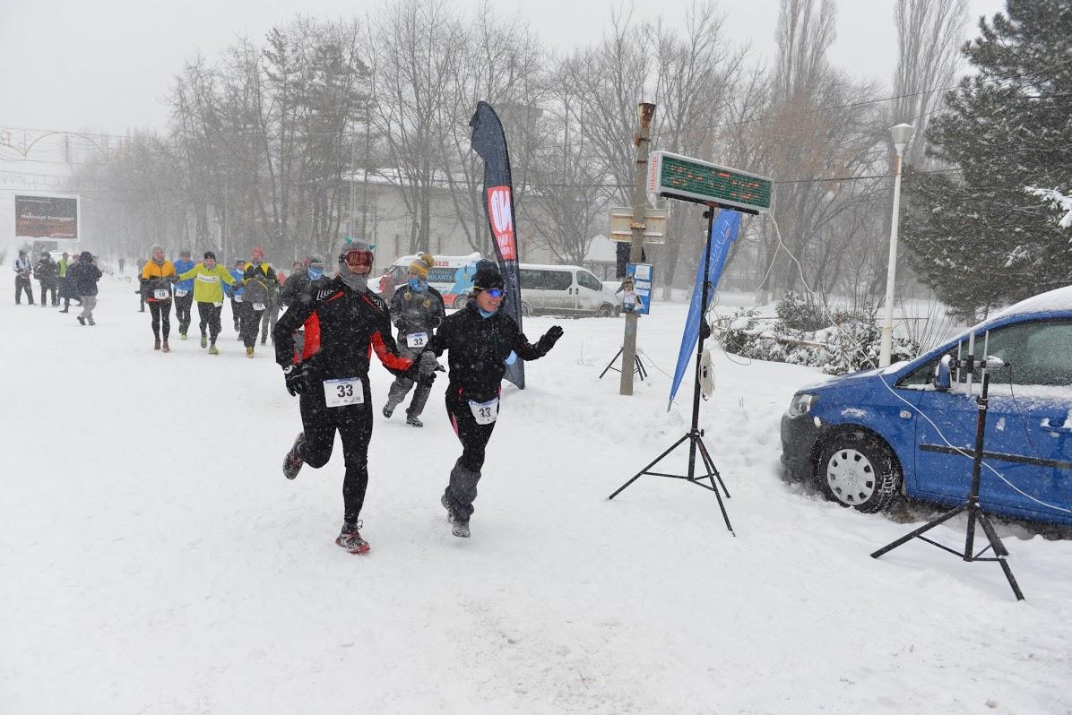 Eu şi Georgeta, la finish. Mihai rămăsese un pic în urmă.