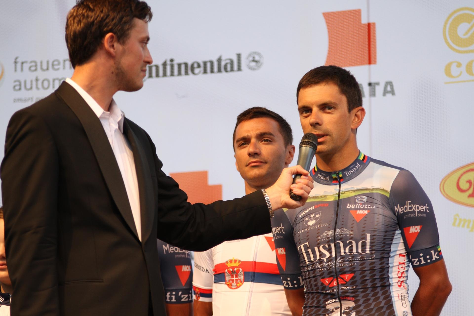 Eduard Novak la prezentarea din Turul Sibiului