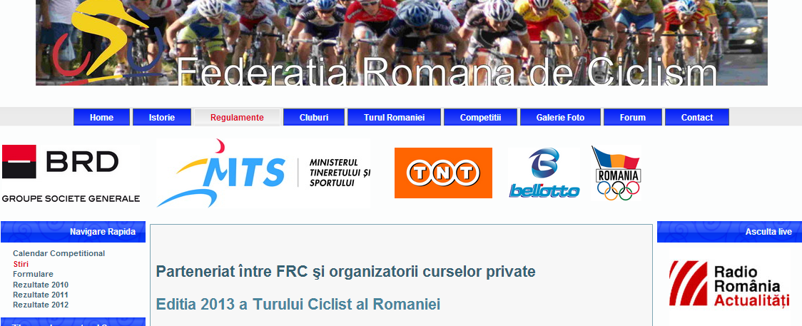 Federatia Romana de Ciclism - site