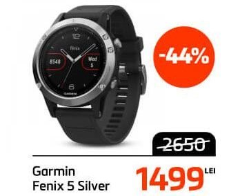 Garmin Fenix 5 Silver - Black Friday