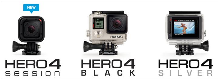 GoPro HERO4 Session vs black vs silver