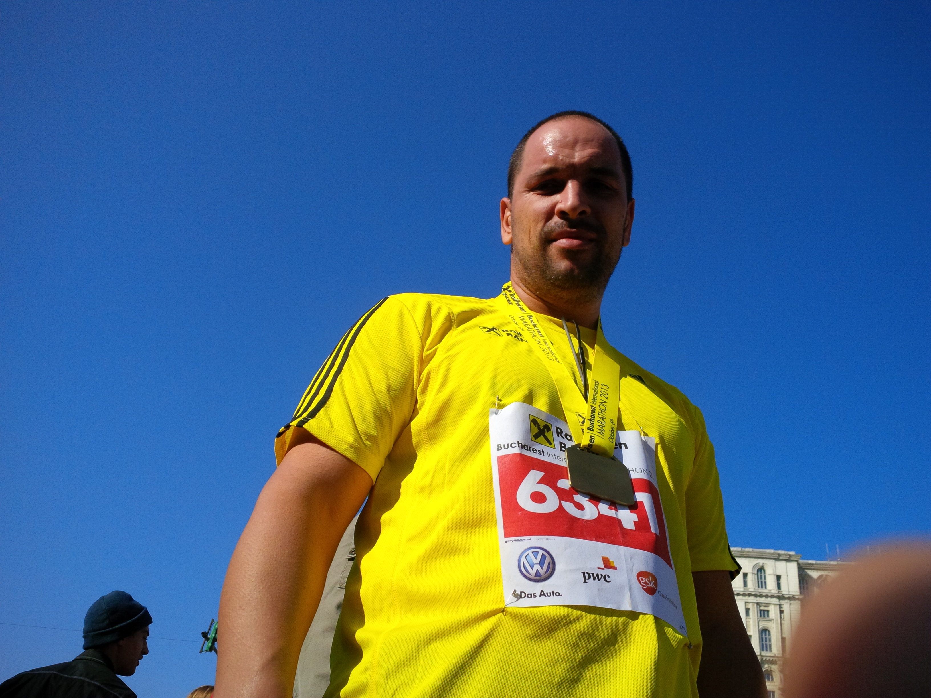 Emilian Nedelcu - dupa finish la Semimaratonul Bucuresti
