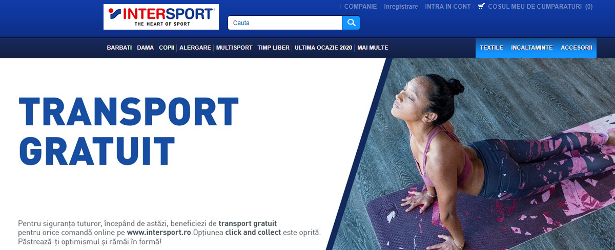 Intersport - transport gratuit coronavirus