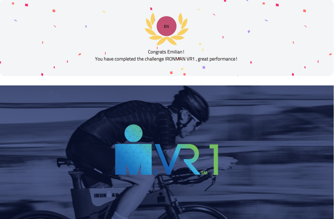 Ironman VR 1 - diploma participare