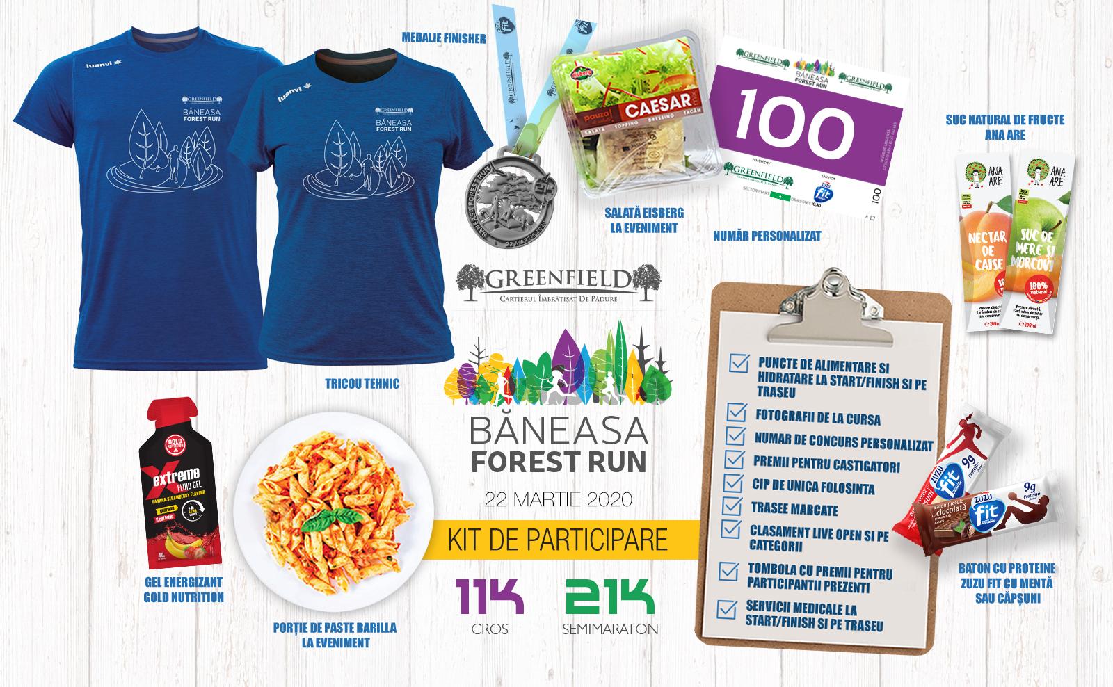 Baneasa Forest Run - kit participare cros și semimaraton